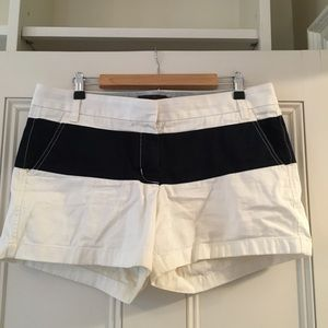 Jcrew white and blue shorts
